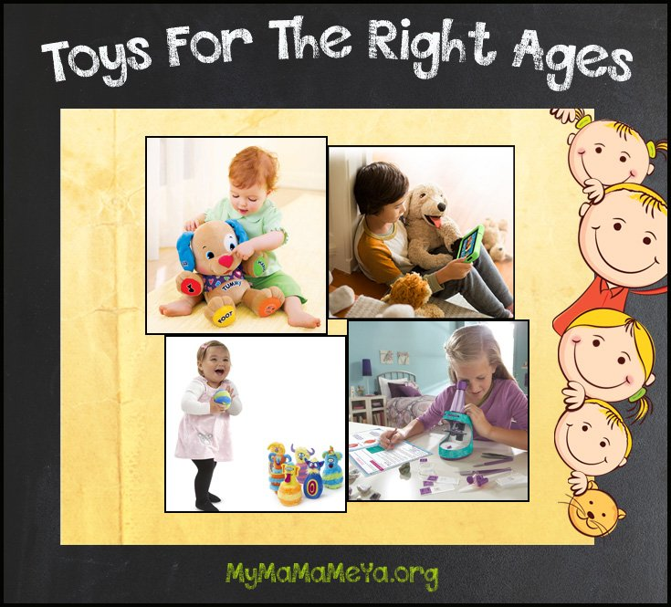 toys for the right ages