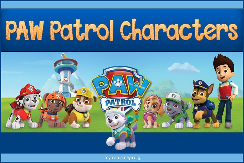 Paw Patrol Characters