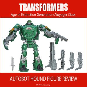 Transformers Age of Extinction Generations Voyager Class Autobot Hound Figure Review