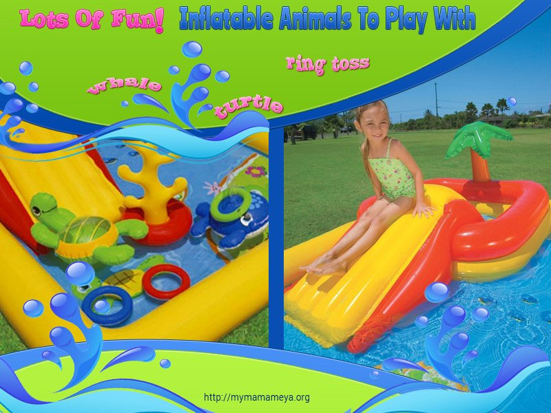 Intex Ocean Play Cent Kids Inflatable Wading Pool outdoor fun