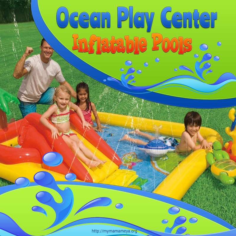 Intex Ocean Play Center Kids Inflatable Wading Pool