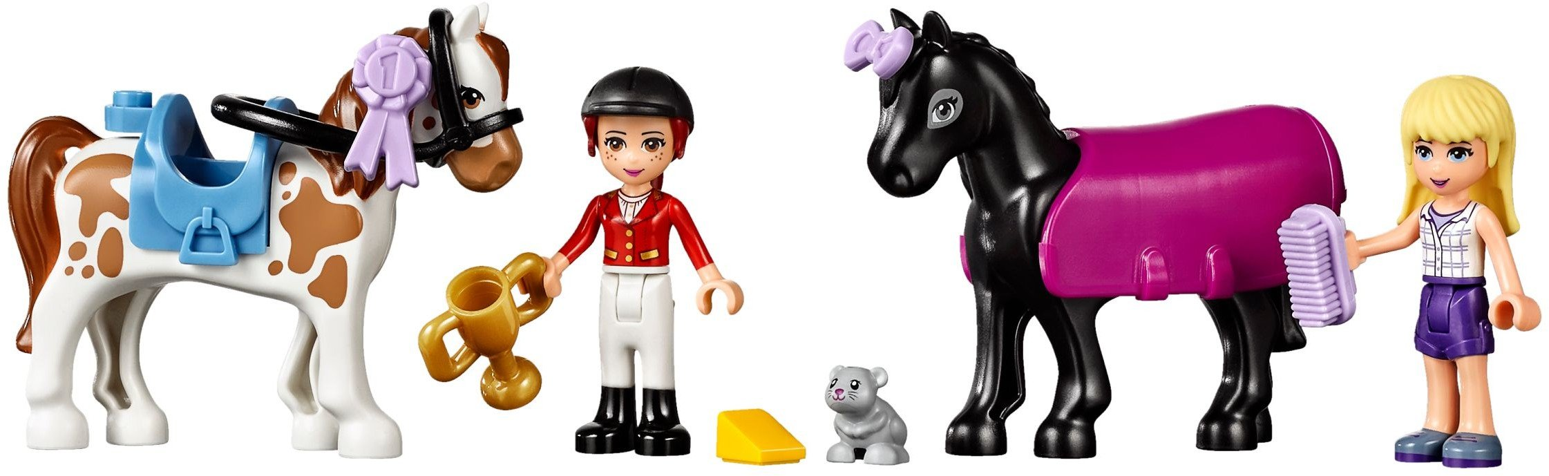 Genuine Lego Friends Horses With Saddles and Bridles